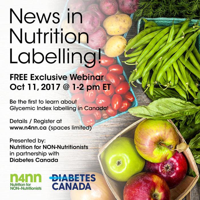 weiler nutrition communications n4nn diabetes canada webinar flyer